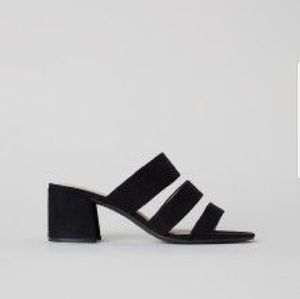 H&M faux suede sandals